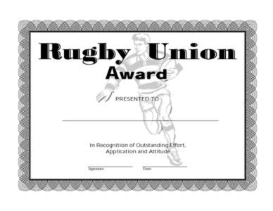 templates for rugby certificates rugby union award one certificate templates teachers