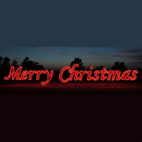 red merry christmas commercial led light display
