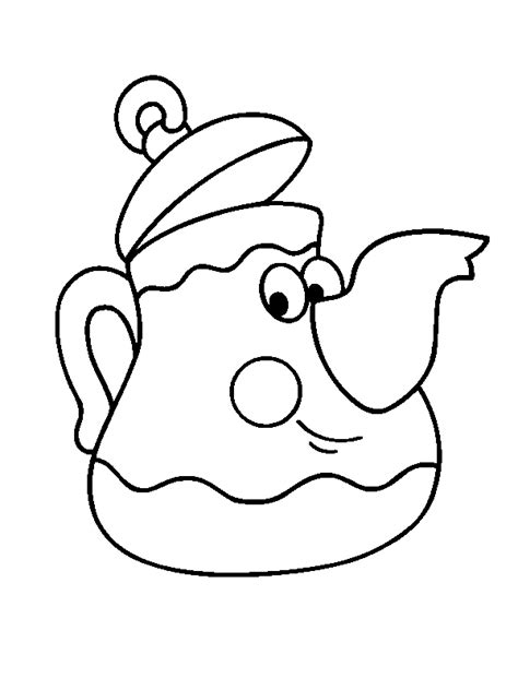 Printable Teapot Coloring Pages Coloring Home Teapot Coloring Page