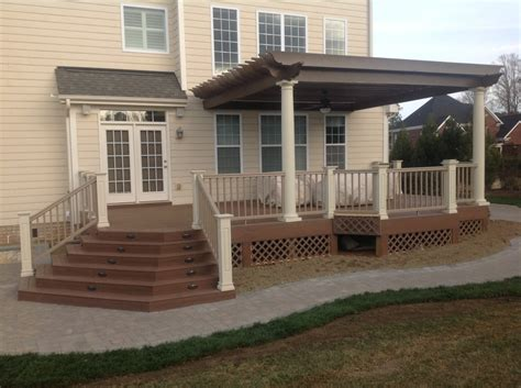A new deck and patio using Timbertech
