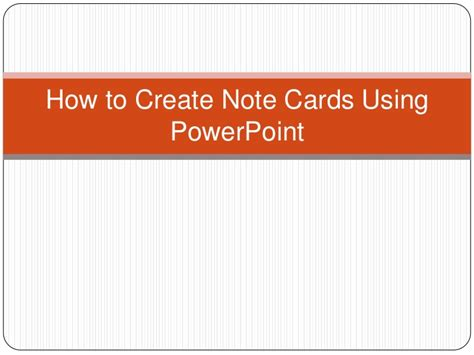 Note Card Powerpoint Template by Note Cards In Power Point