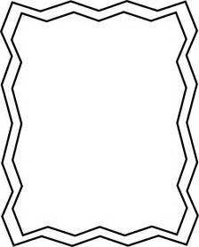 page black and white zig zag frame free clip frames
