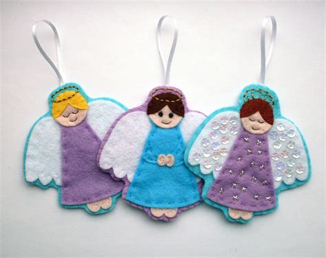 pattern felt angel diy felt angel ornaments pdf sewing pattern embroidery