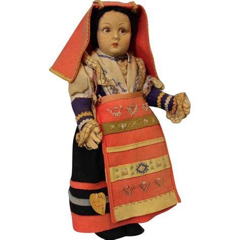lenci italian dolls antique 14 inch lenci cerce maggiore tag italian doll