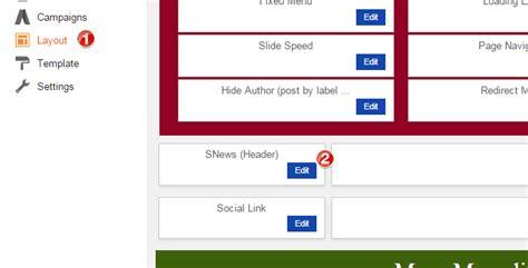 r layout header cara memodifikasi template snews lengkap transerblog