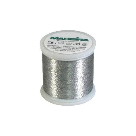 Madeira Quilting Thread by Madeira Metallic Machine Embroidery Thread No 40 Silver 200m