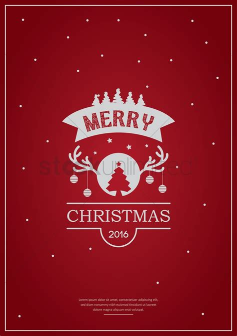 design xmas poster merry christmas poster design vector image 1744236