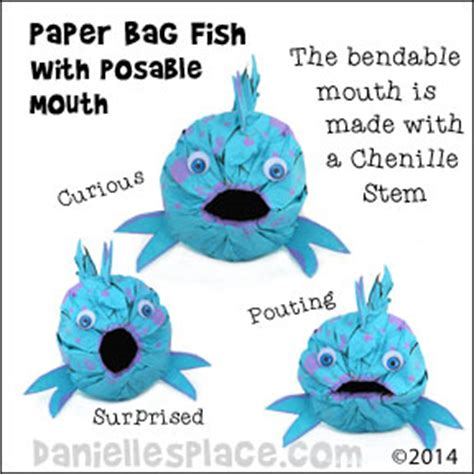 Paper Bag Fish Craft - pout pout fish craft paper lunch bag fish with posable