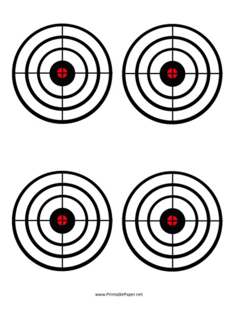 printable circle targets the gallery for gt printable shooting targets a4