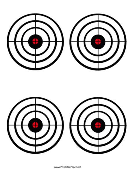 printable paper shooting targets printable black circles target