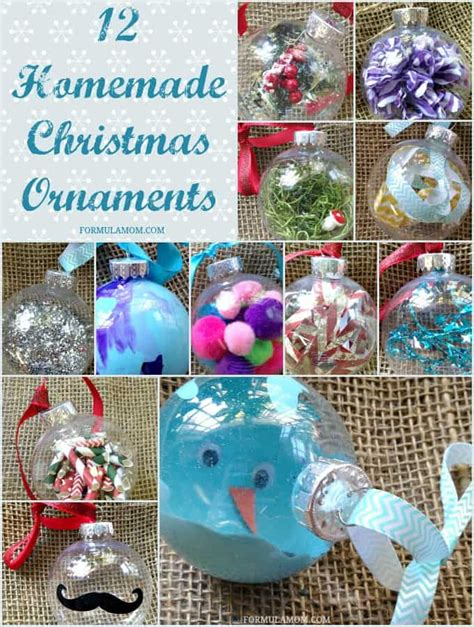 How To Make Handmade Ornaments - 12 ornament ideas diy