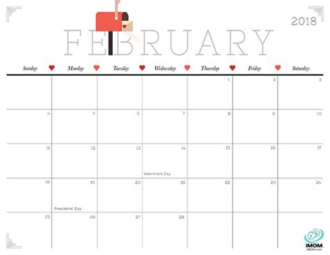 printable calendar 2018 cute cute 2018 calendar yearly printable calendar