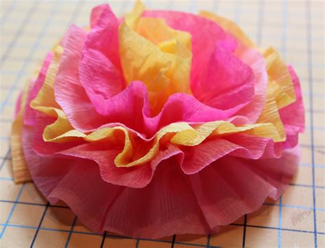 How To Make Paper Flowers With Crepe Paper - crepe paper flowers the cottage