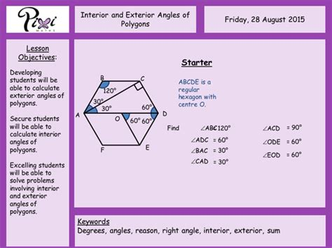 Polygons Exterior And Interior Angles by Interior And Exterior Angles Of Polygons By Aframe