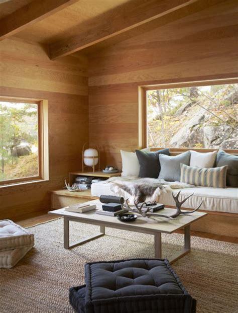 Zen Homes un salon 224 la d 233 co scandinave en bois urgent banquette
