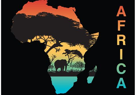 africa map free vector africa silhouette vector free vector stock