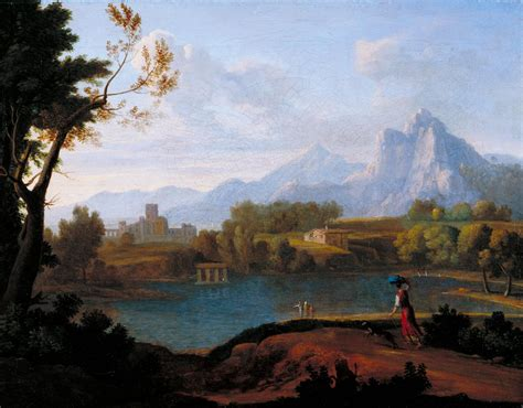 Landscape Artists Uk Classical Landscape With Mountains School 18th