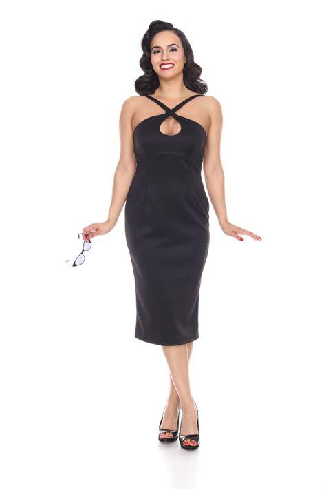 Betty Dress cross my dress black by bettie page bettie page