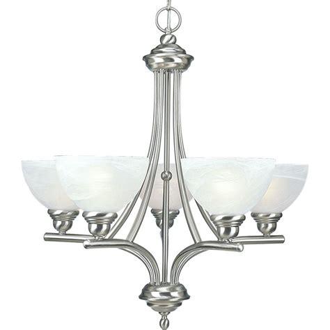 progress chandeliers progress lighting glendale collection 5 light brushed