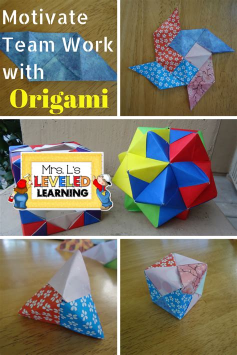 Origami Math Project - mrs l s leveled learning s day hop 2015