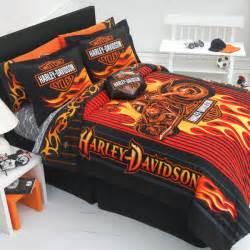 Harley Davidson Bedroom Set harley bedding harley comforter harley davidson comforter set