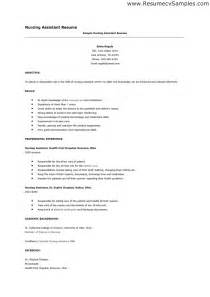 Resume Cna Exles by Sle Of A Cna Resume