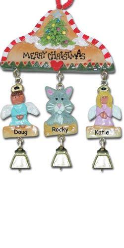 cat house christmas ornament gray cat chritmas ornament