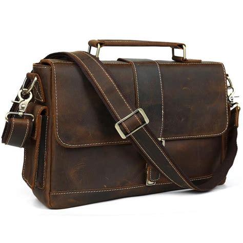 Shoulder Bag 13 vintage s bull real leather briefcase messenger bag shoulder bag 13 laptop ebay