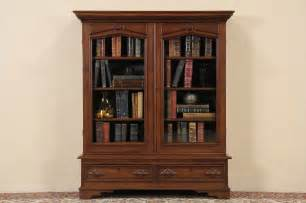walnut bookcase with glass doors victorian 1860 s antique walnut bookcase wavy glass doors