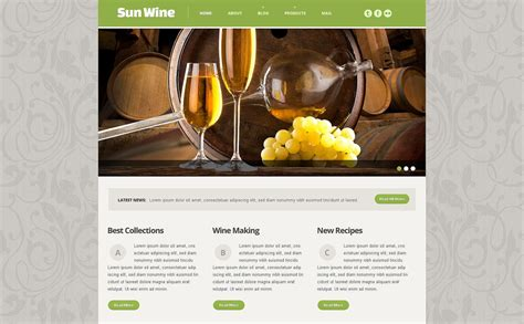 Wine Responsive Website Template 54014 Free Wine Website Templates