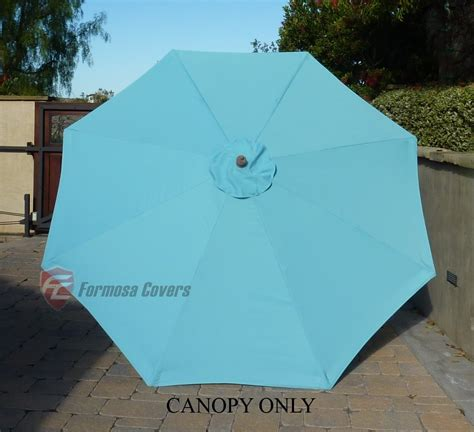 Patio Umbrella Replacement Covers 9ft Market Patio Umbrella Replacement Cover Canopy 8 Ribs Light Blue