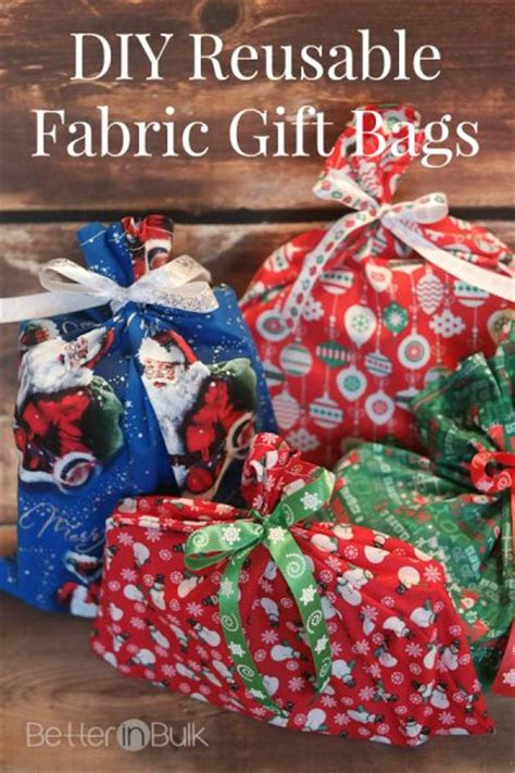 bulk christmas gifts to make diy reusable fabric gift bags better in bulk