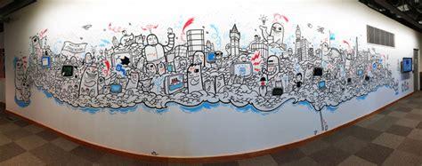 doodle di tembok doodle yang menarik di dinding pejabat 24