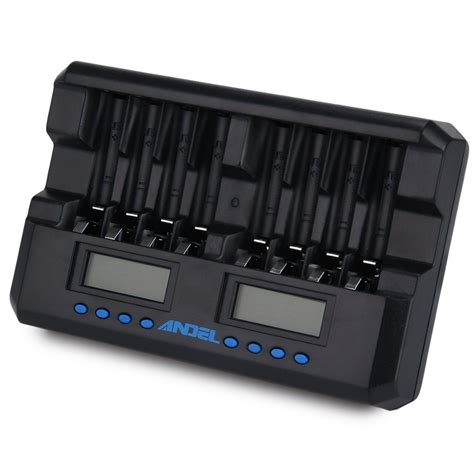 charger battery aa new top 8 slots intelligent lcd display battery charger