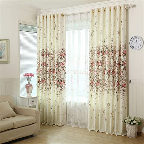 beige color curtains beautiful floral curtain in light beige color cotton fabric