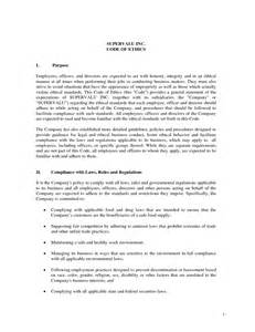 code of ethics policy template employee handbook ethics policy the best free software