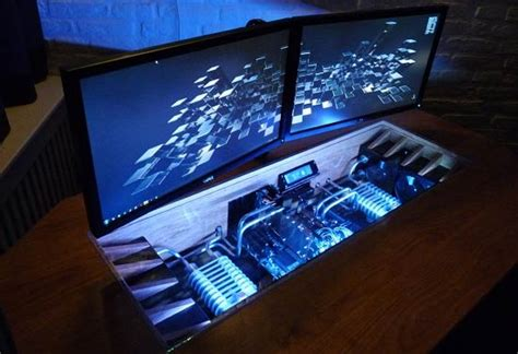 pc dans bureau modding desk by lesprate mod projet 1 0 modding