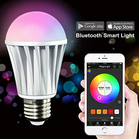 smartphone light control magiclight bluetooth smart led light bulb smartphone