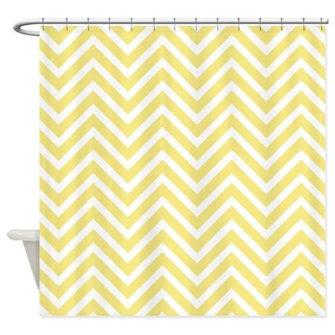 Yellow Chevron Curtains Yellow Chevron Stripes Shower Curtain By Cheriverymery