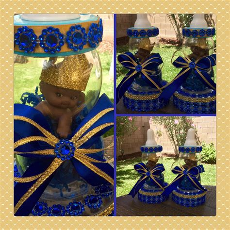One Royal Blue Prince Baby Shower Centerpiece Little Prince Royal Baby Shower Centerpieces