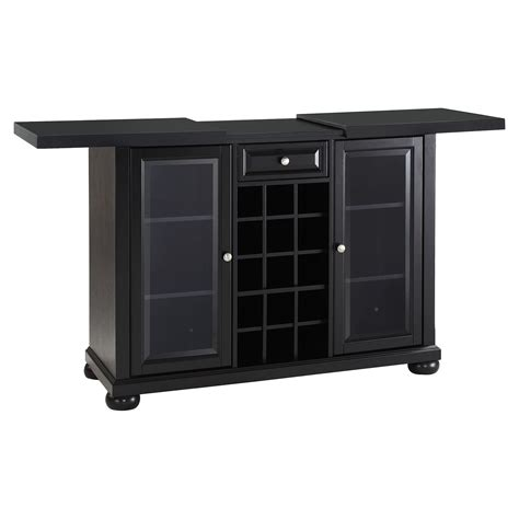 sliding top bar cabinet alexandria sliding top bar cabinet black dcg stores