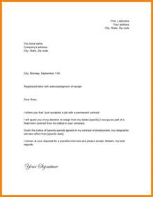 Resignation Letter Word Format by 11 Simple Resignation Letter Format In Word Hvac Resumed