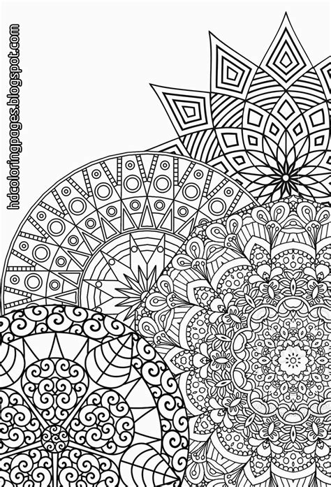 detailed mandalas coloring pages for
