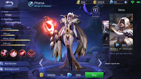 mobile legends new 2018 pharsa features 2019 mobile legends