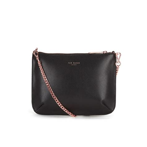 ted baker womens nara crosshatch leather crossbody bag