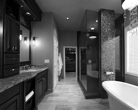 Black Modern Bathroom Prestigious Black White Bathroom At Modern Bathroom Decor Installed In Tiled Flooring And