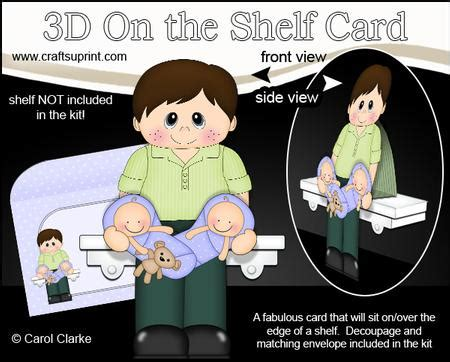on the shelf time this mummy 3d on the shelf card kit ben new of baby cup663571 359 craftsuprint