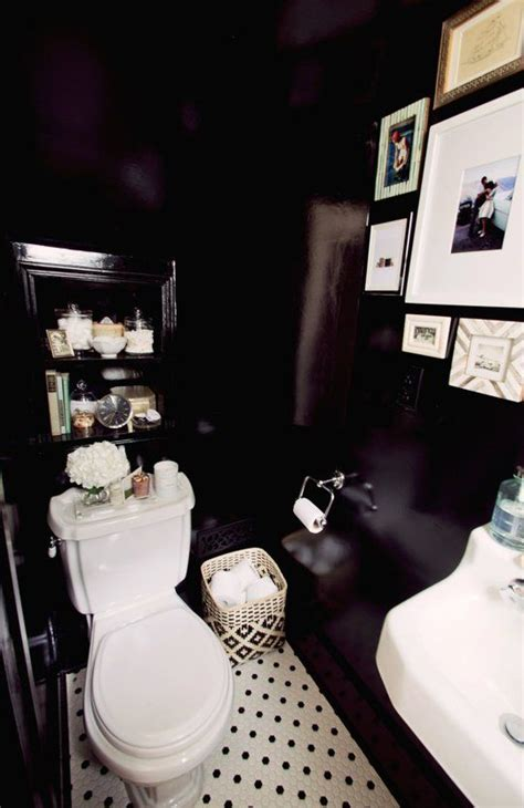 black painted room 25 best ideas about black powder room on