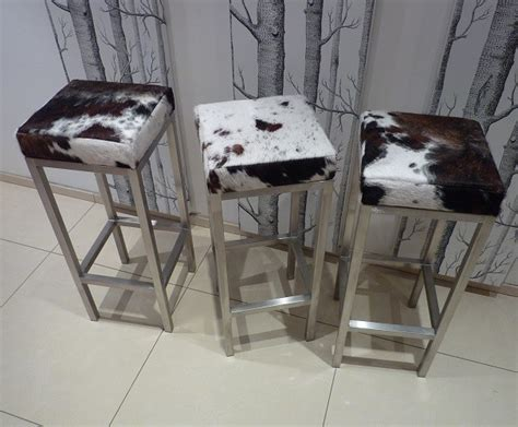 Cowhide Print Bar Stools by Cowhide Bar Stools Modern Bar Stools And Kitchen