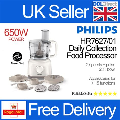 Philips Food Processor Hr7627 Limited philips hr7627 01 650w 2 1l daily collection kitchen food processor brand new ebay